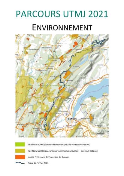 PARCOURS UTMJ 2021 - Carte environnement
